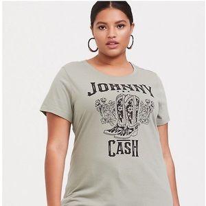 Torrid - Size 2 Johnny Cash Sage Green Crew Tee
